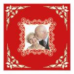 Invitación de la foto del aniversario de boda del