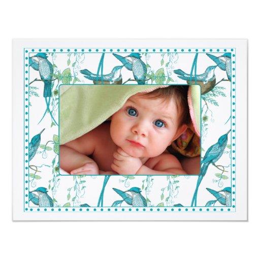 Invitación de la foto del bebé de la familia de