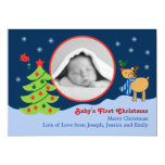 Invitación de la foto del bebé del navidad invitación 12,7 x 17,8 cm