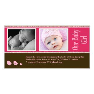 Invitación de la foto del bebé tarjeta personal con foto