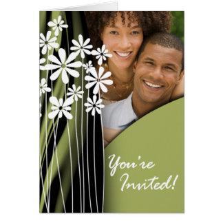 Invitación de la foto del boda del jardín de tarjeta de felicitación