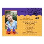 Invitación de la foto del cumpleaños de Halloween Invitación 12,7 X 17,8 Cm
