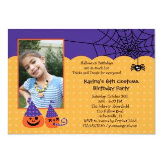 Invitación de la foto del cumpleaños de Halloween