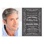 Invitación de la foto del cumpleaños de la pizarra invitación 12,7 x 17,8 cm