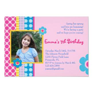 Invitación de la foto del cumpleaños del florista