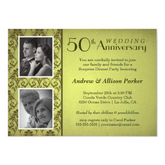 Invitación de la foto del doble del aniversario
