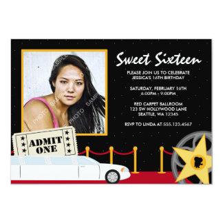 Invitación de la foto del dulce 16 de la alfombra