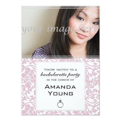 Invitación de la foto del fiesta de Bachelorette -