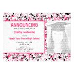 Invitación de la foto del graduado de la salpicadu