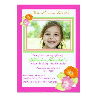 Invitación de la foto del hibisco invitación 12,7 x 17,8 cm