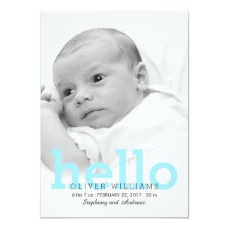 Invitación de la foto del nacimiento del bebé del