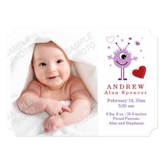 Invitación de la foto del nacimiento del el día de