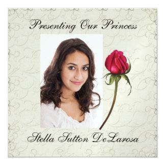 Invitación de la foto - princesa, boda, Cotillion