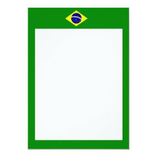 Invitación de la frontera de la bandera del Brasil
