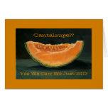 Invitación de la fuga: Cantalupo, retruécano, dive Tarjetón