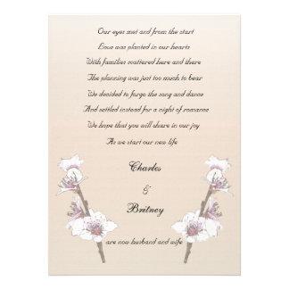 Invitación de la fuga de las flores de cerezo