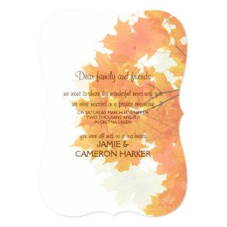 Invitación de la fuga de las hojas de arce