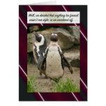 Invitación de la fuga, estilo del pingüino tarjeta