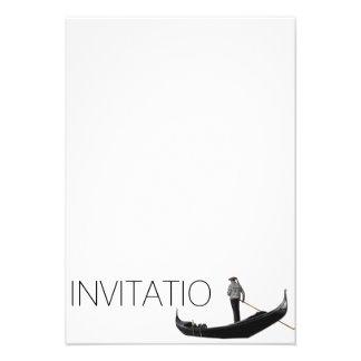 Invitación de la góndola de Venezian