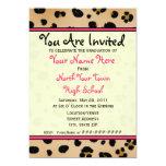Invitación de la graduación - clase del leopardo
