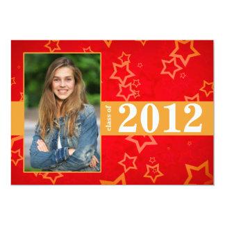 Invitación de la graduación de 2012 del rojo