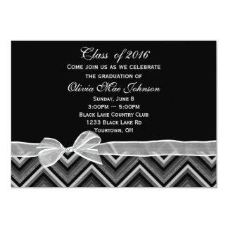 Invitación de la graduación de Chevron y del arco