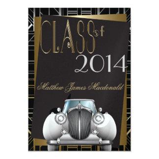 Invitación de la graduación de Gatsby del art déco
