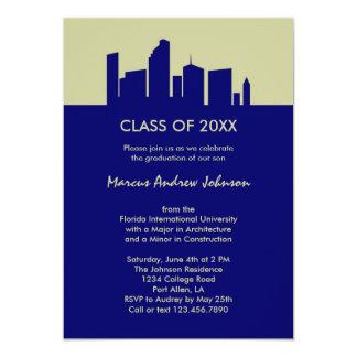 Invitación de la graduación de la arquitectura invitación 12,7 x 17,8 cm