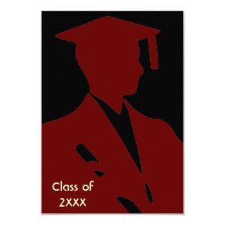 Invitación de la graduación de la elegancia de