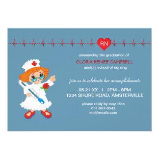 Invitación de la graduación de la enfermera