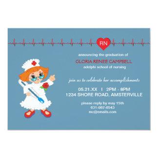 Invitación de la graduación de la enfermera invitación 12,7 x 17,8 cm