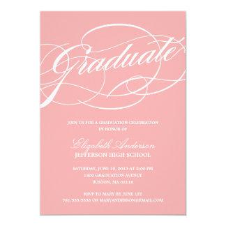 Invitación de la graduación de la escritura de la