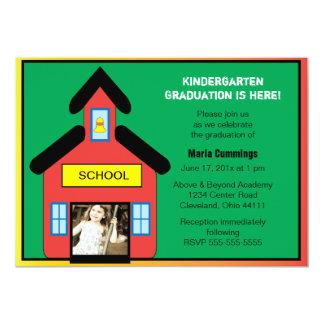 Invitación de la graduación de la escuela invitación 12,7 x 17,8 cm