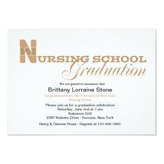Invitación de la graduación de la escuela de