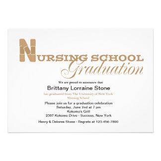Invitación de la graduación de la escuela de enfer