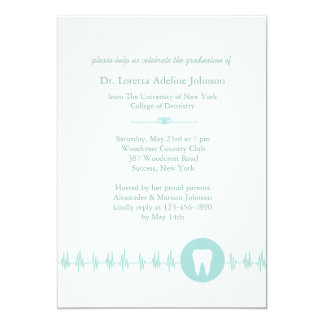 Invitación de la graduación de la escuela dental