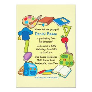 Invitación de la graduación de la escuela primaria invitación 12,7 x 17,8 cm