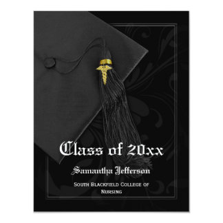 Invitación de la graduación de la Facultad de Invitación 10,8 X 13,9 Cm