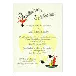 Invitación de la graduación de la flor de lis de invitación 12,7 x 17,8 cm