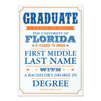 Invitación de la graduación de la Florida