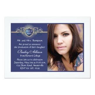 Invitación de la graduación de la foto de las invitación 12,7 x 17,8 cm