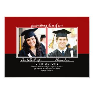 Invitación de la graduación de la foto de los