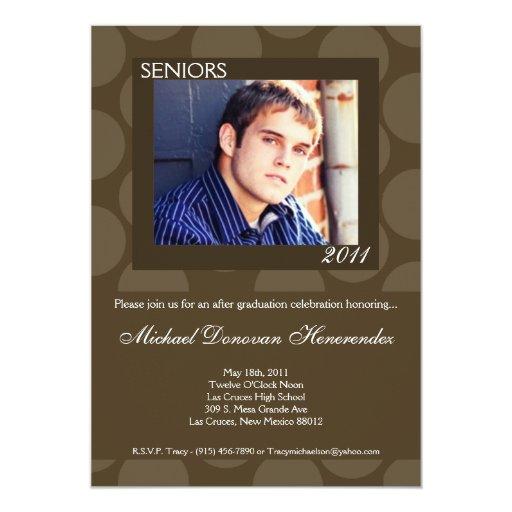 invitación de la graduación de la foto de Polk del