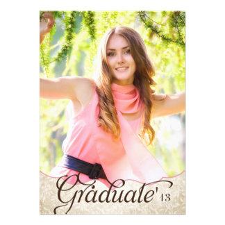Invitación de la graduación de la foto del jardín