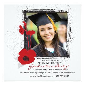 Invitación de la graduación de la foto del marco invitación 13,3 cm x 13,3cm