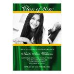 Invitación de la graduación de la foto del satén d