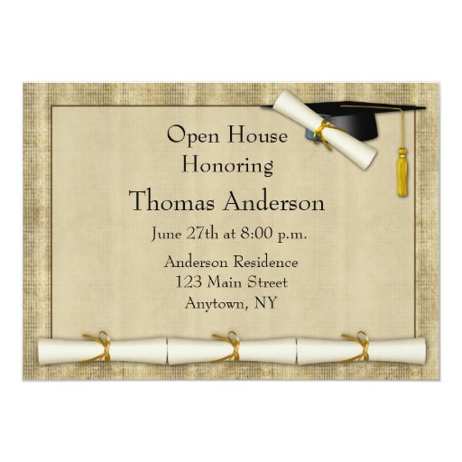 Invitación de la graduación de la frontera del