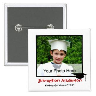 Invitación de la graduación de la guardería de la  pin cuadrada 5 cm