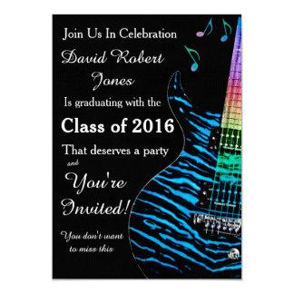 Invitación de la graduación de la guitarra de las