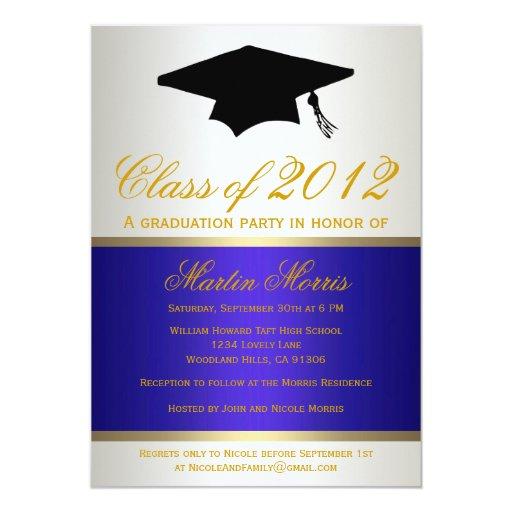 Invitación de la graduación de la marina de guerra invitación 12,7 x 17,8 cm